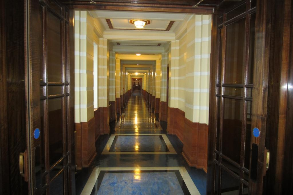 Board room corridor